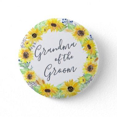 Flowerfields Grandmother of the Groom Button