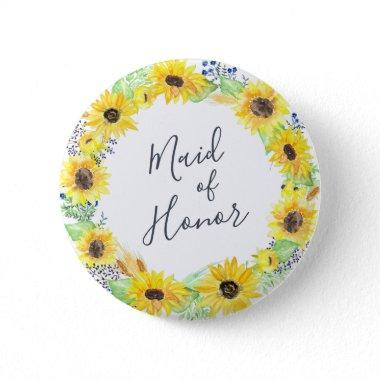 Flowerfields Maid of Honor Button