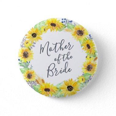 Flowerfields Mother of the Bride Button