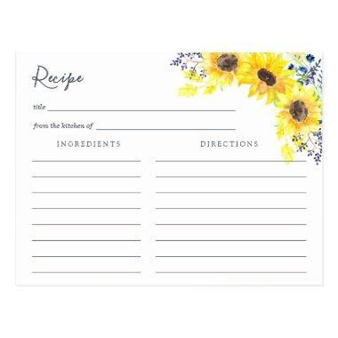 Flowerfields Recipe Invitations