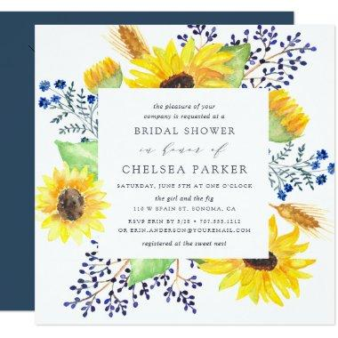 Flowerfields Square Bridal Shower Invitations