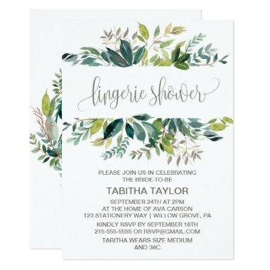 Foliage Lingerie Shower Invitations