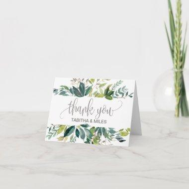 Foliage Wedding Thank You Invitations