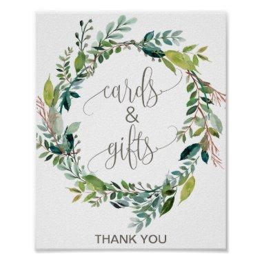 Foliage Wreath Invitations and Gifts Sign