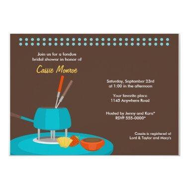 Fondue Bridal Shower Invitations