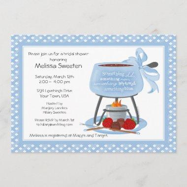 Fondue Wedding Shower Invitations