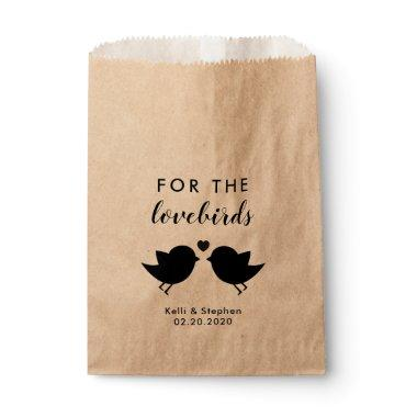 For the Lovebirds, Wedding Send Off Bird Seed Bags