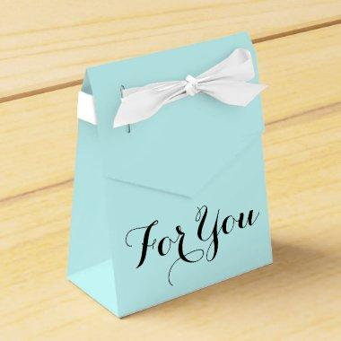 For you favor gift blue favor box