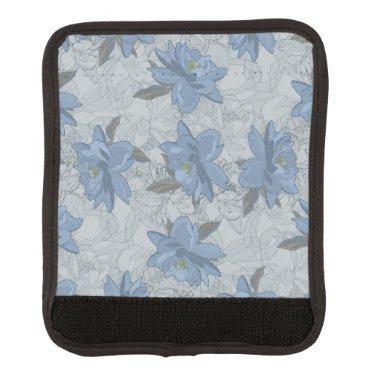 Foral blue lush flowers wedding pattern handle wrap