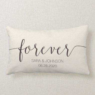 FOREVER,Personalized Wedding Gift Lumbar Pillow