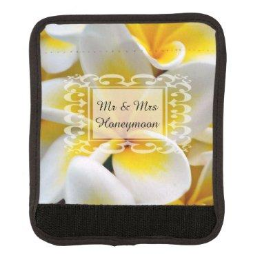 Frangipani flower luggage handle wrap