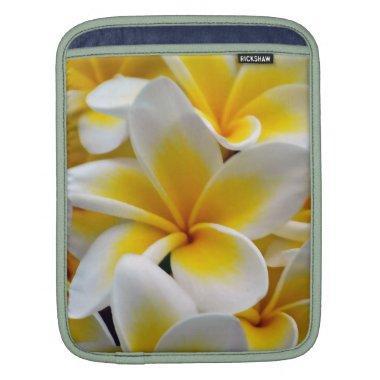 Frangipani flower sleeve for iPads