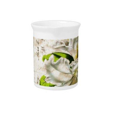 french botanical art starfish butterfly lily drink pitchers