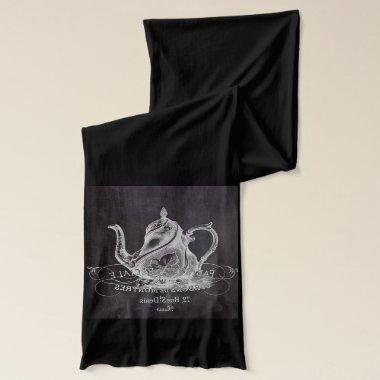 french country paris tea party chalkboard teapot scarf