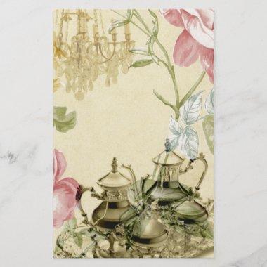 French floral Teacup Teapot Paris Tea Party