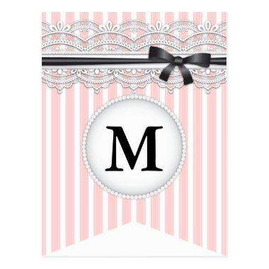 French Inspired Chic Lace Bunting Banner Post