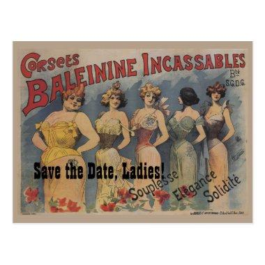 French Lingerie  Theme Save the Date Post