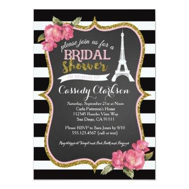 French Paris Bridal Shower Invitations