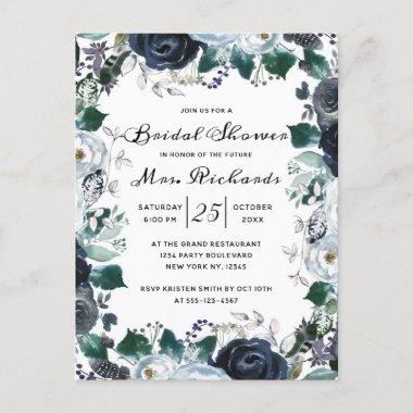 French Twilight Floral Future Mrs Bridal Shower Invitation PostInvitations