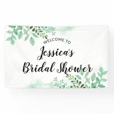 Fresh Foliage Botanical Mint  Welcome Banner