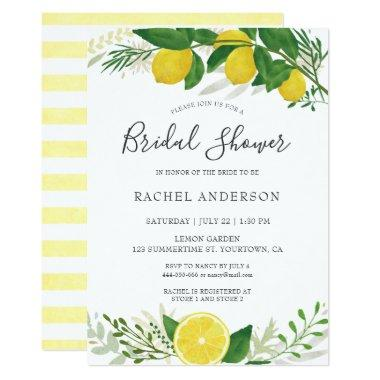 Fresh Lemon Bridal Shower Invitation Invitations 02