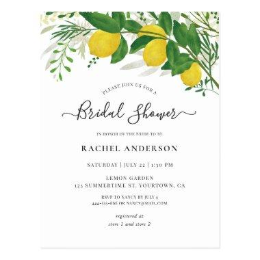 Fresh Lemon Bridal Shower Invitation PostInvitations