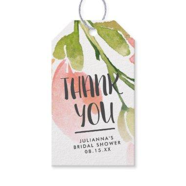 Fresh Watercolor Blooms Personalized Thank You Gift Tags