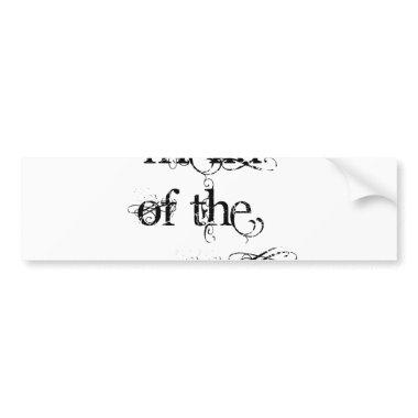 Friend of the Groom Bumper Sticker