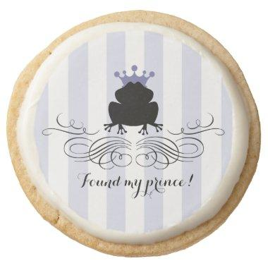 Frog Prince Charming | Bridal Shower Round Shortbread Cookie