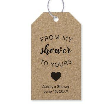 From My Shower To Yours Bridal Shower Soap Favor Gift Tags