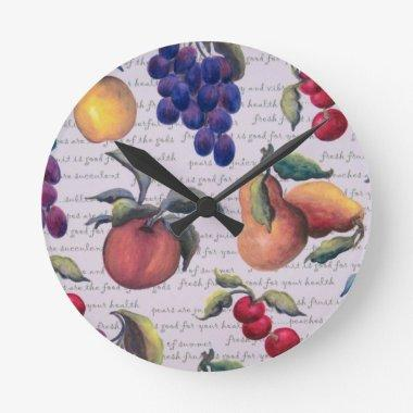 fruits round clock