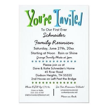 Fun Family Reunion Party or Event
