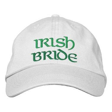 Fun Irish Bride Embroidered Hat Wedding Gift