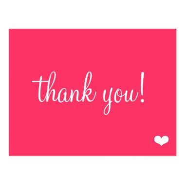Fun Pink Thank You PostInvitations