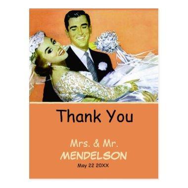 Fun vintage personalized wedding post