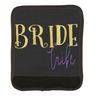 FUNKY GOLD BRIDE TRIBE WITH PURPLE LUGGAGE HANDLE WRAP