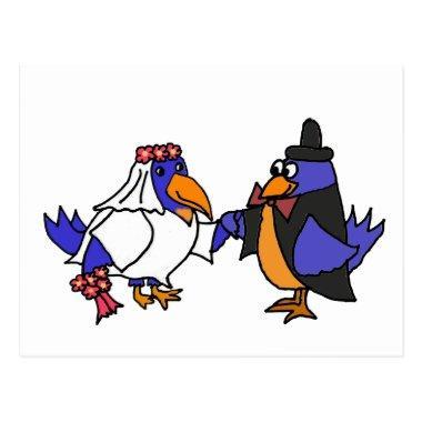 Funny Bluebirds Bride and Groom Wedding Post