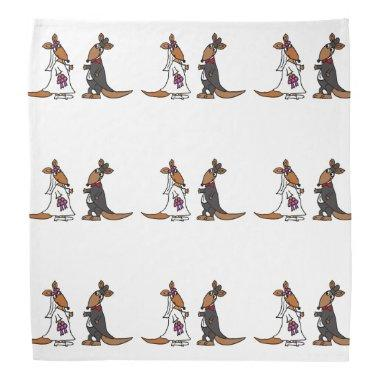 Funny Bride and Groom Kangaroo Wedding Design Bandana