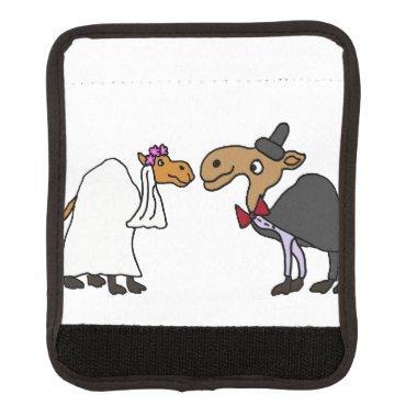 Funny Camel Bride and Groom Wedding Cartoon Handle Wrap