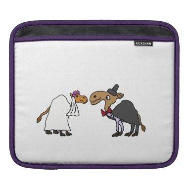 Funny Camel Bride and Groom Wedding Cartoon Sleeve For iPads