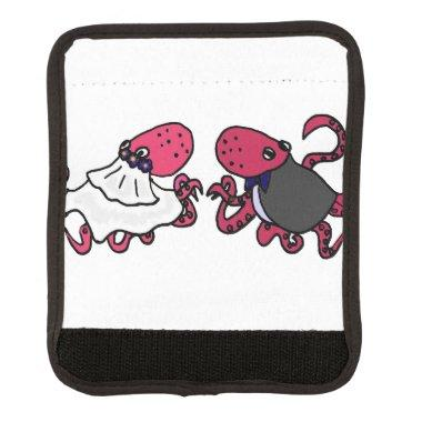 Funny Octopus Bride and Groom Wedding Handle Wrap