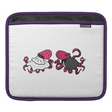 Funny Octopus Bride and Groom Wedding Sleeve For iPads