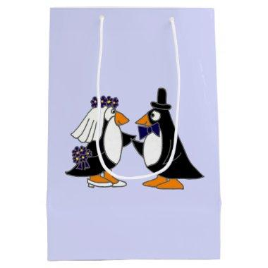 Funny Penguin Bride and Groom Gift Bag