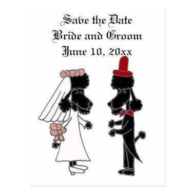 Funny Poodle Bride and Groom Wedding Post