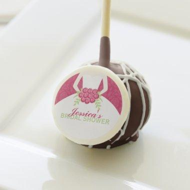 Fuschia Damask Elegant Bride Bridal Shower Cake Pops
