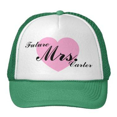 Future Mrs. Carter Personalized Name Trucker Hat