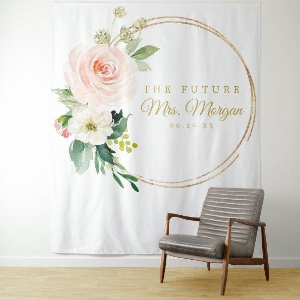 Future Mrs Gold Bridal Shower Backdrop Photo Booth