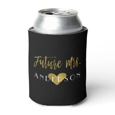 Future Mrs. Gold Foil Bride Can Cooler
