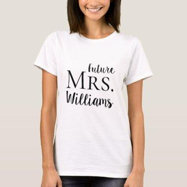 Future Mrs. Modern Bride Wedding T-Shirt
