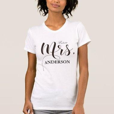 Future Mrs. Personalized Calligraphy T-Shirt